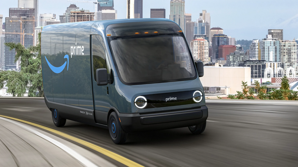 Amazon Rivian Delivery Truck