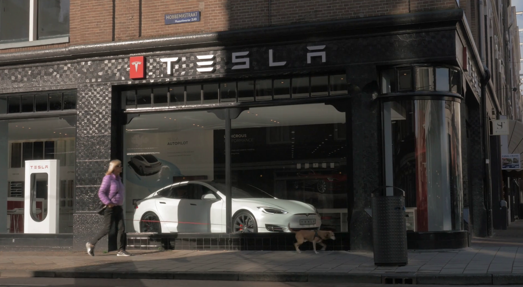 Tesla store in Amsterdam, Netherlands