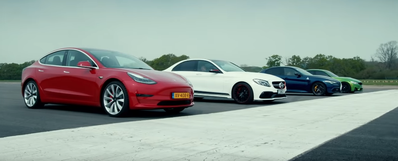 BBC Top Gear Tesla Performance Model 3