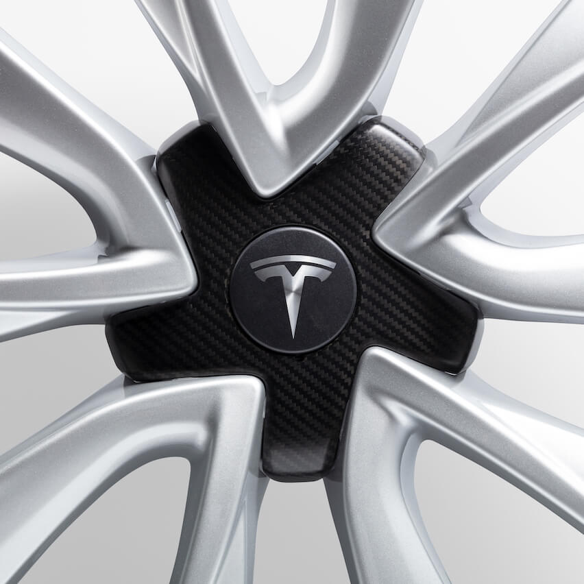 Carbon Fibre center cap Tesla