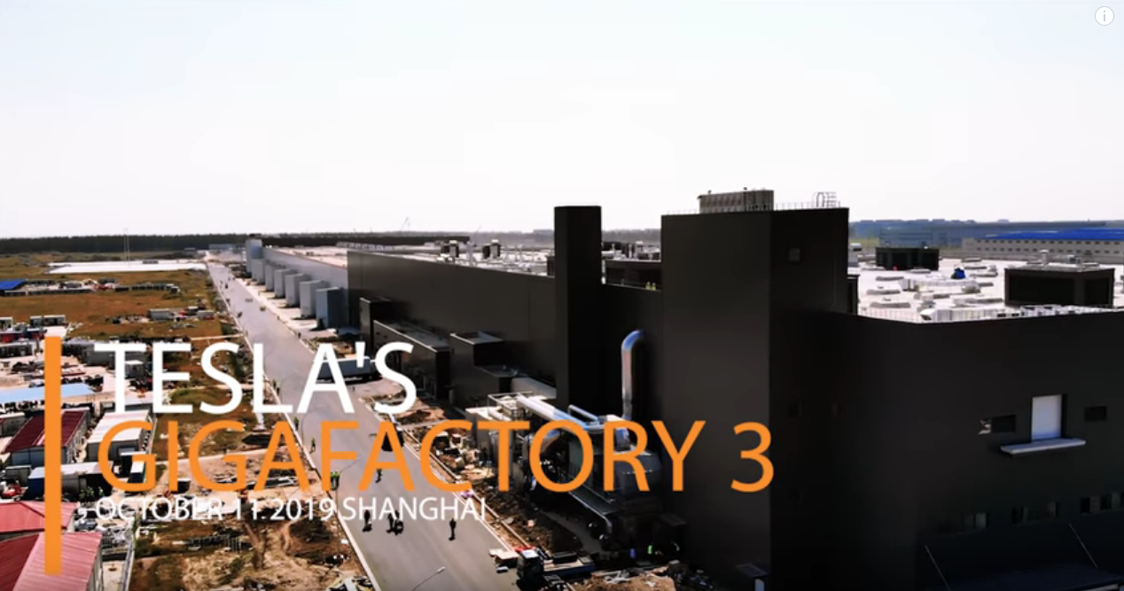 Gigafactory 3 China October 2019