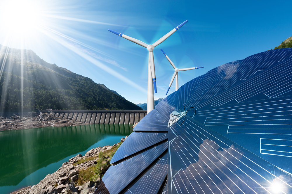 Hydro Solar Wind power