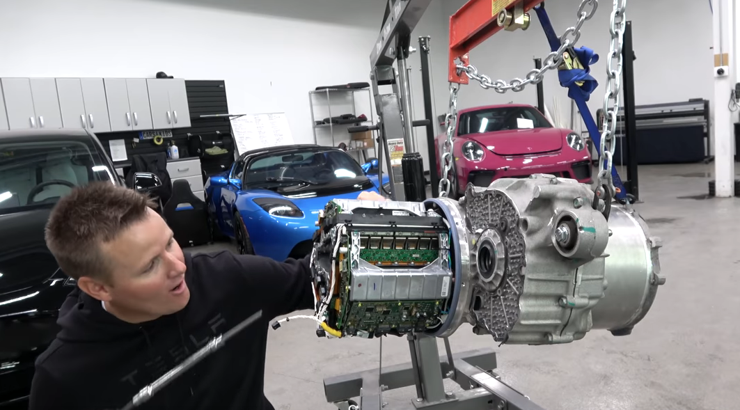 Inside Tesla Model S engine