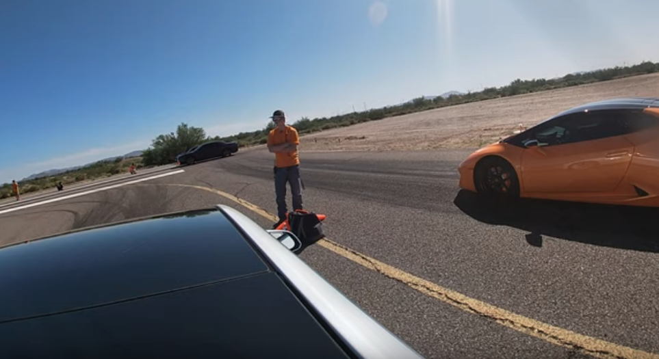 Model 3 Performance vs Lamborghini Huracan