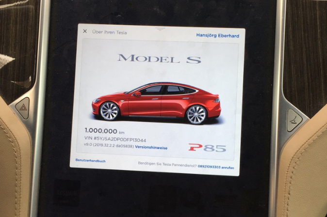 1 million km Tesla Model S
