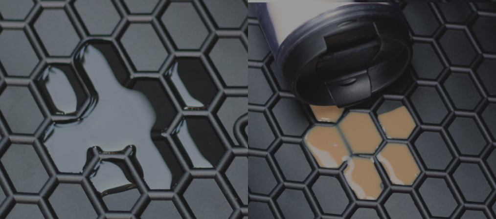 Telsashop High Performance Floor Mats Honeycomb