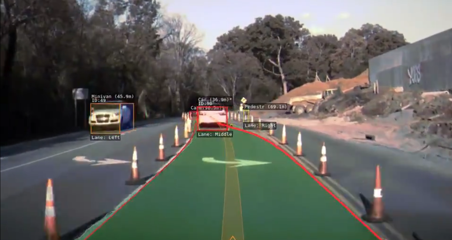 Tesla Autopilot in construction zone
