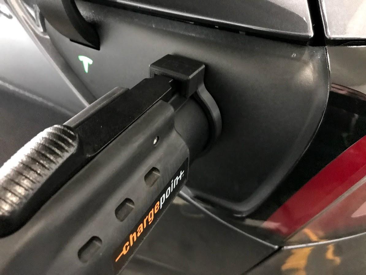 Tesla J1772 lock
