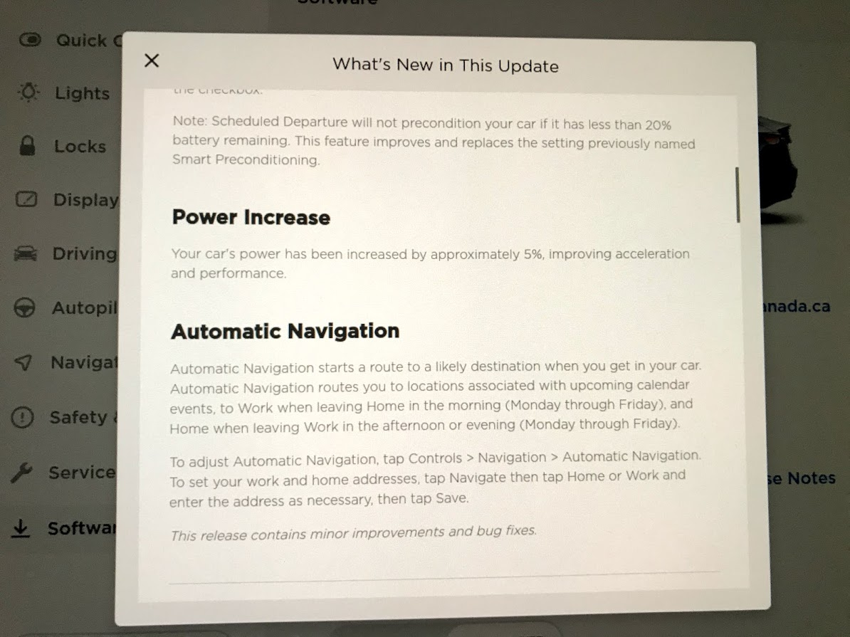 What's in Tesla's latest software update 2019.36.2.1 ...