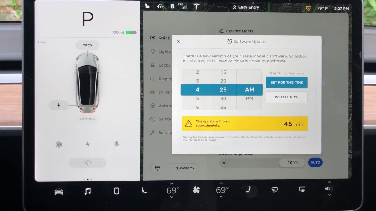 Tesla Software Update