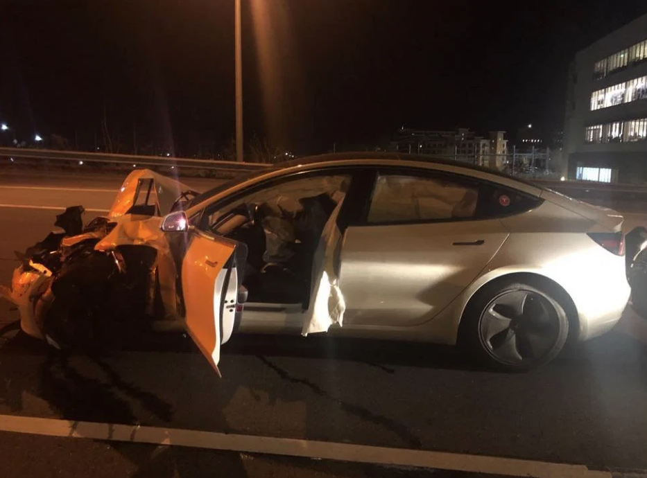 CT Model 3 accident