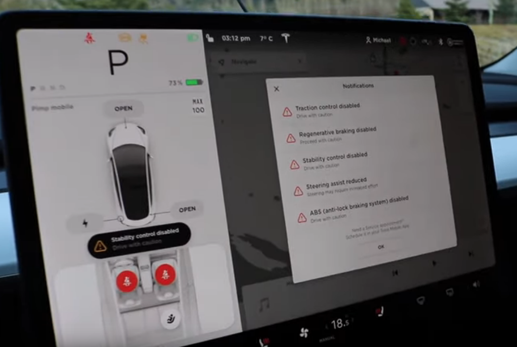 Features turned off for Tesla Model 3 to drift