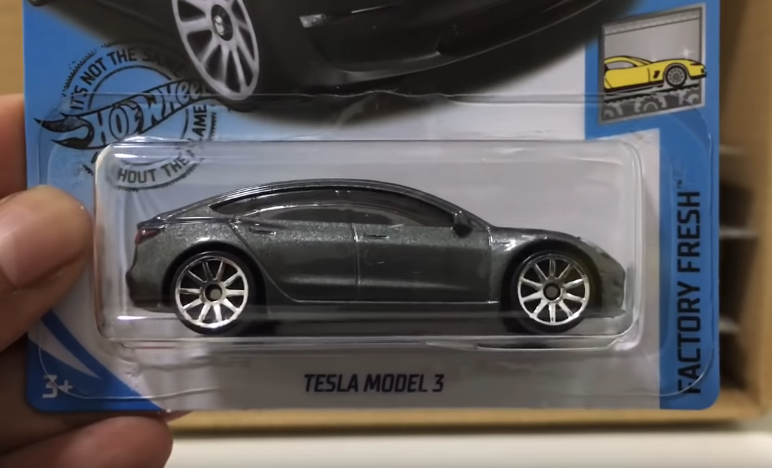 Hot Wheel Tesla Model 3 side