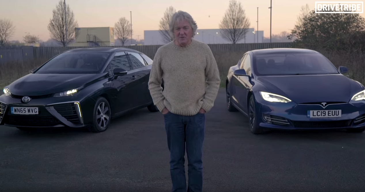 James May Model S vs Toyota Mirai