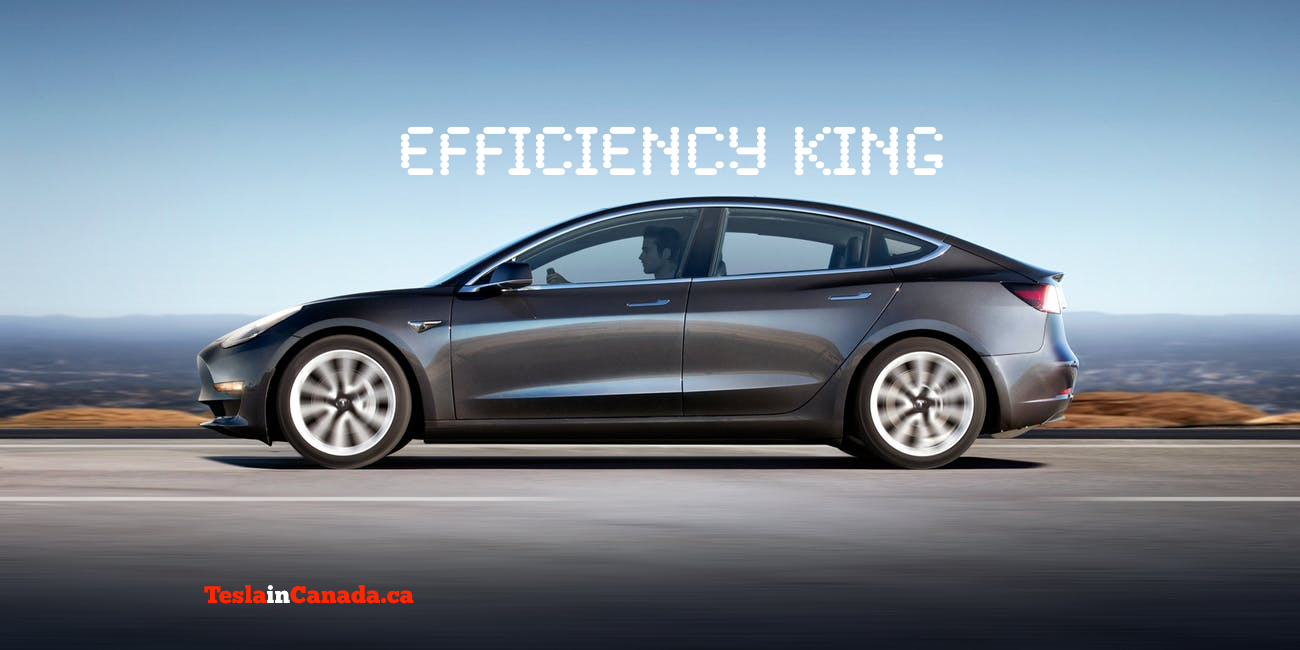 Model 3 efficiency