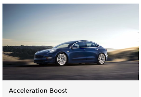 Tesla Model 3 Acceleration Boost