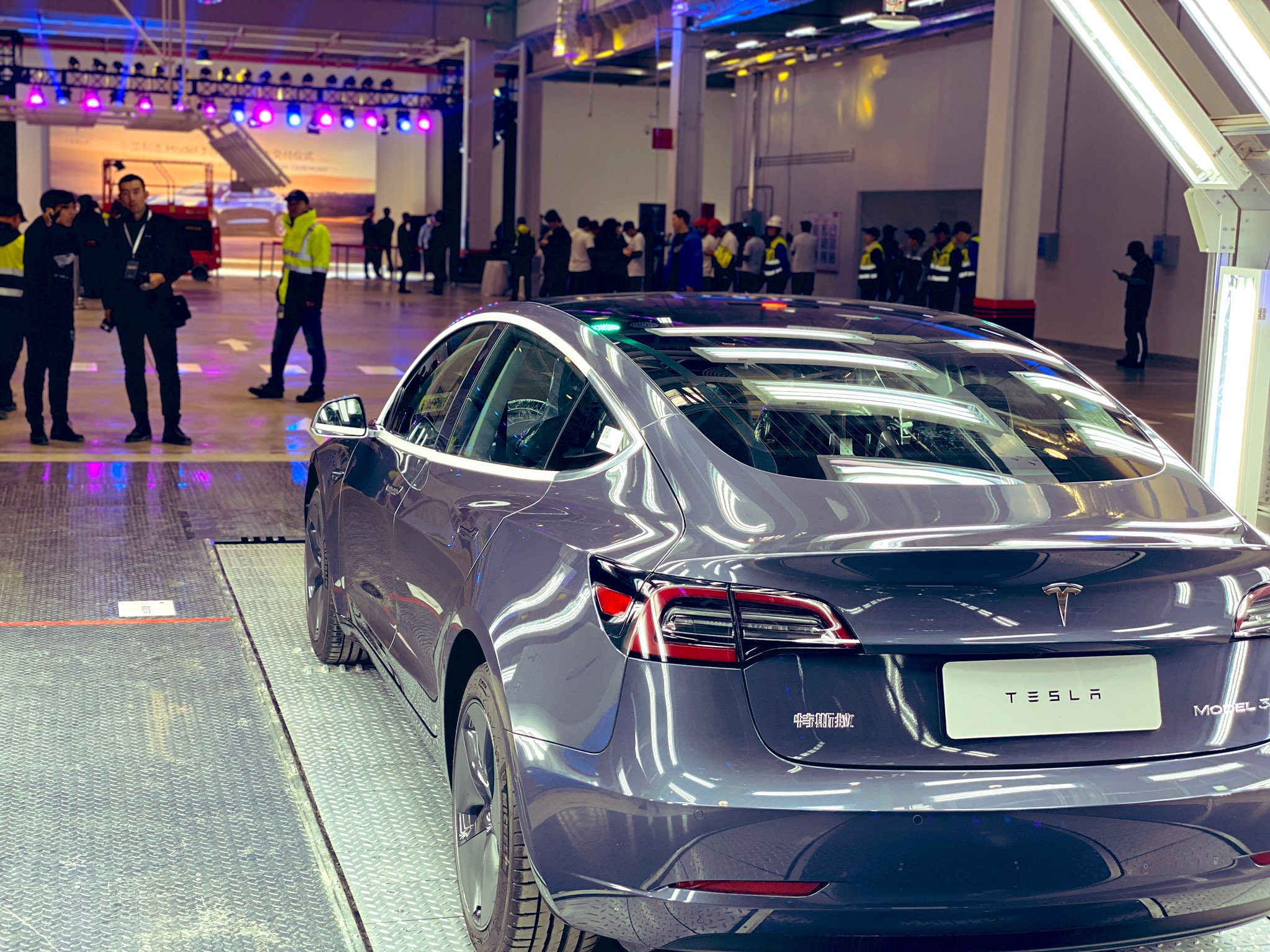 Tesla Model 3 China ceremony