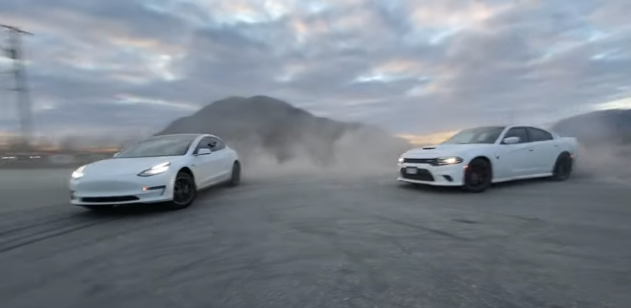 Tesla Standard Range Plus vs Dodge Hellcat