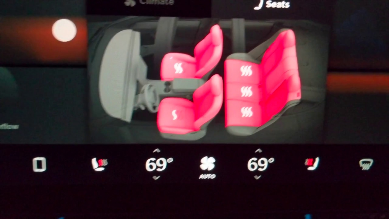 Tesla heated rear seats