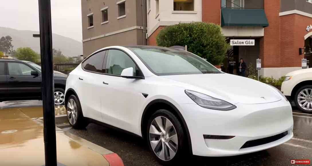 White Model Y California 4