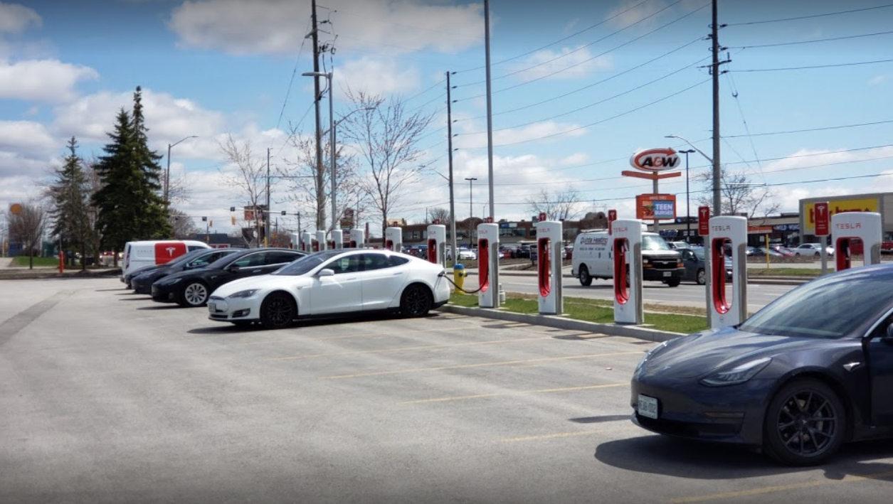 Belleville Tesla Supercharger