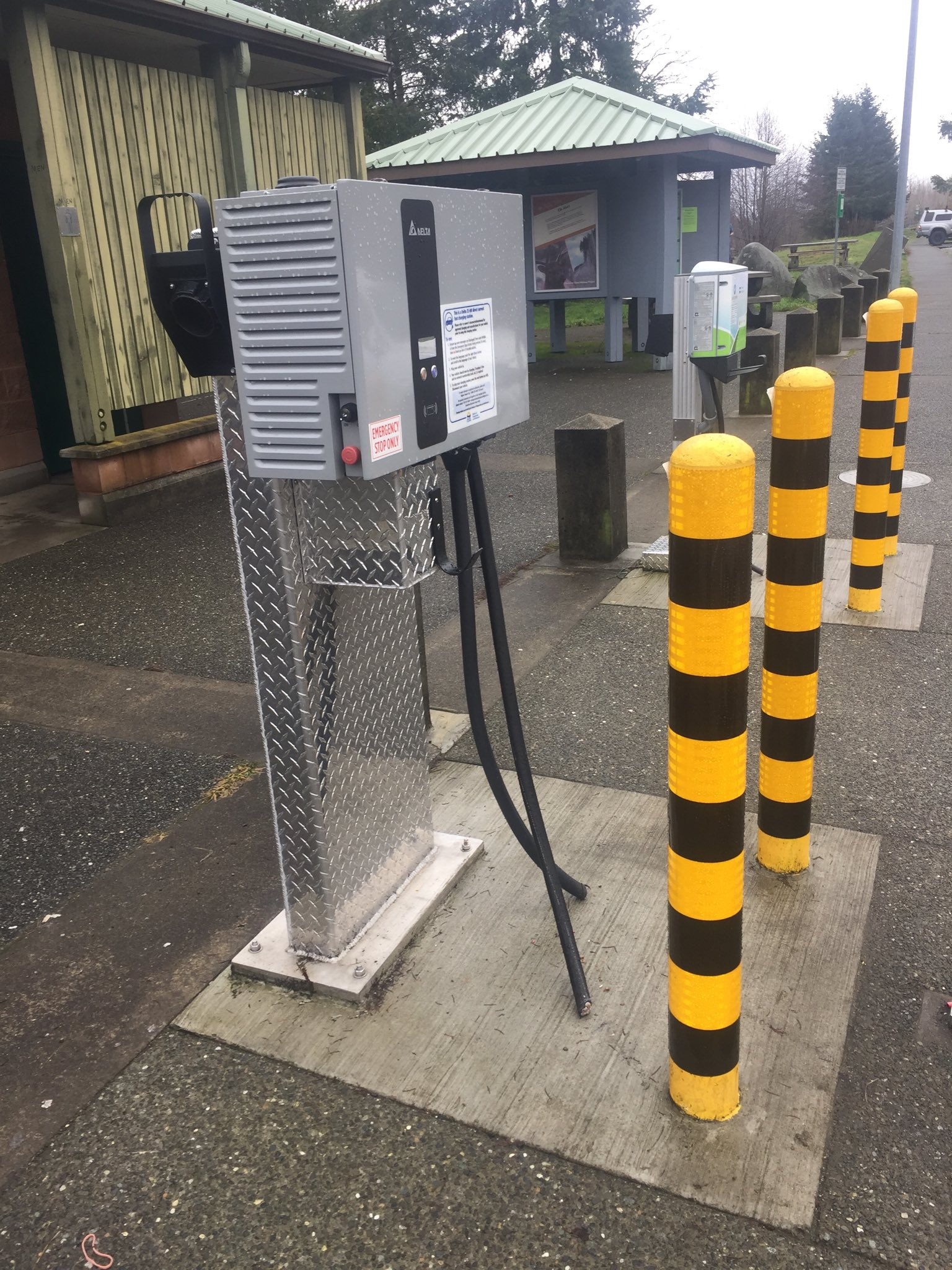 Buckley Bay EV chargers vandalized