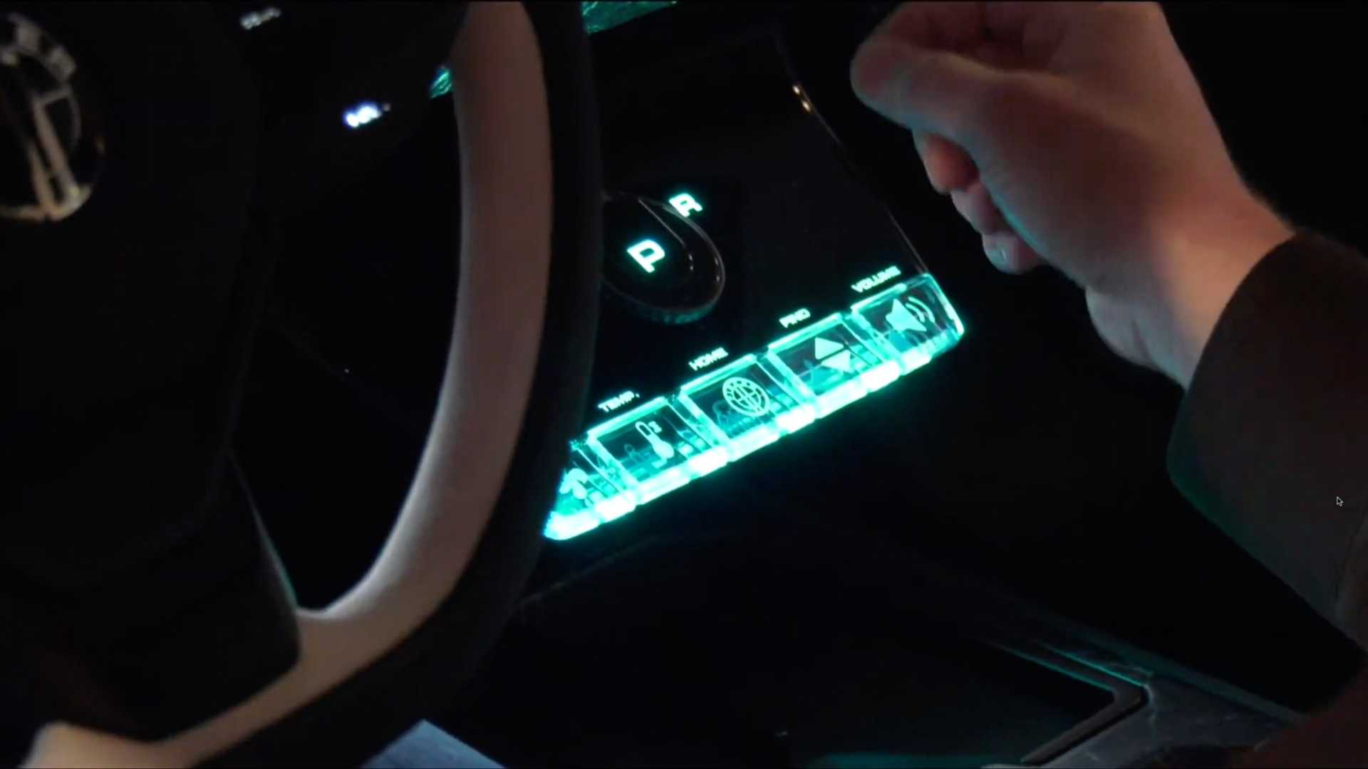 Fisker Ocean display buttons