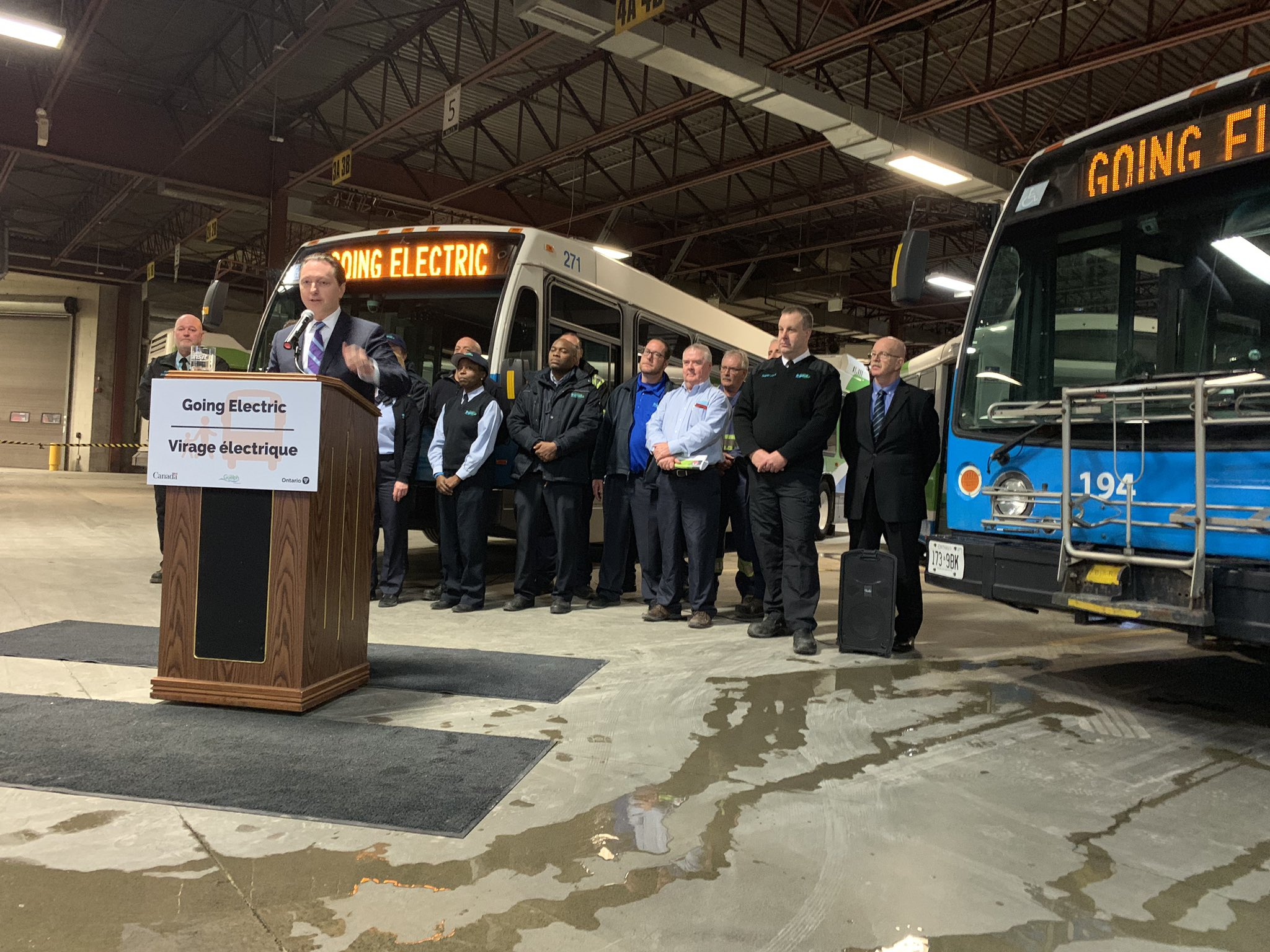 Guelph electric bus announcement