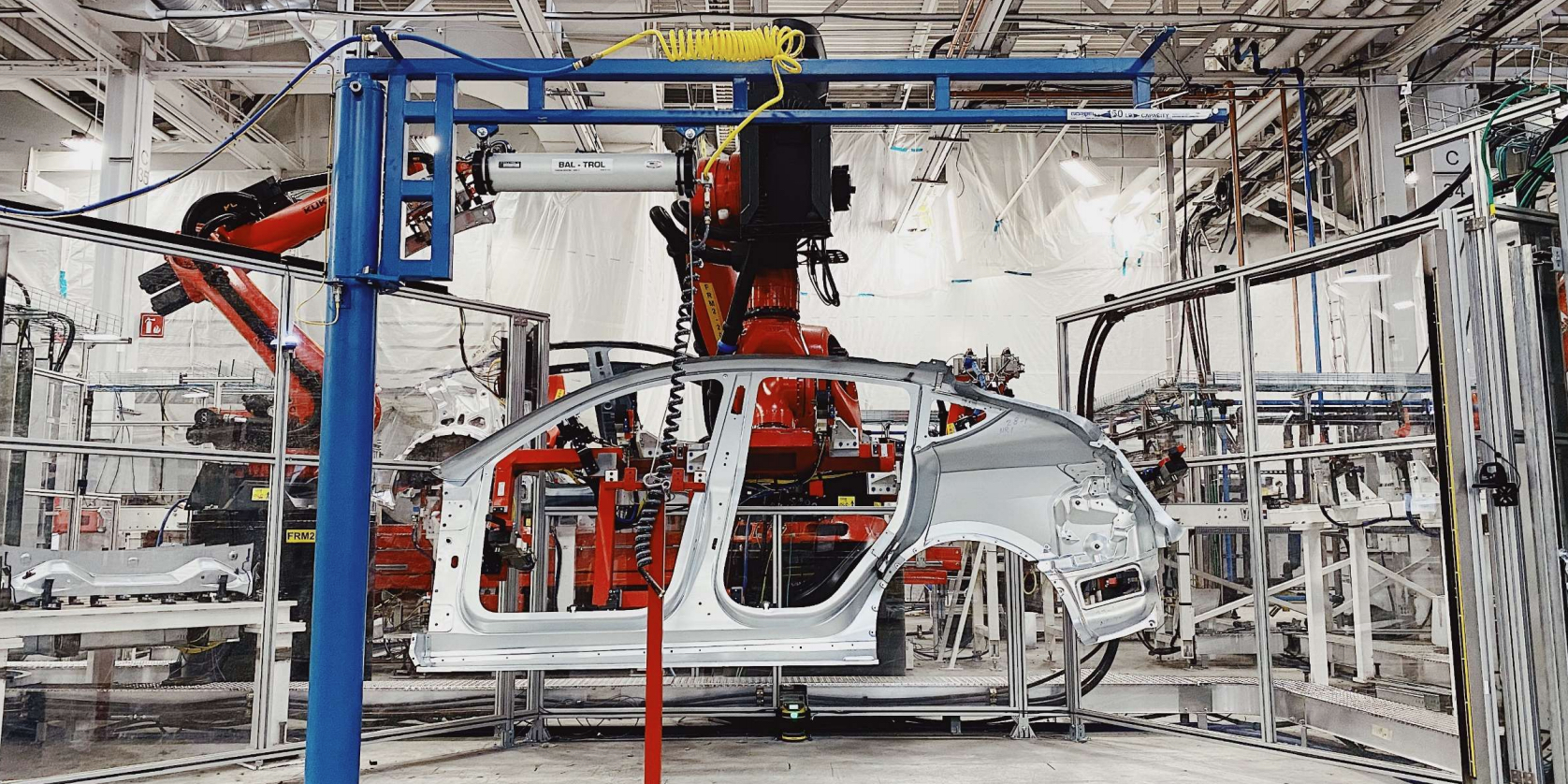 Model Y production line