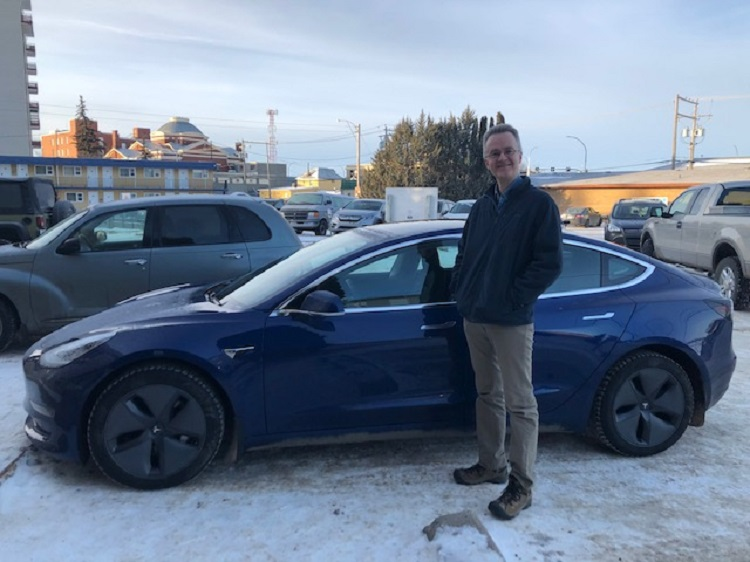 Moose Jaw Tesla owner