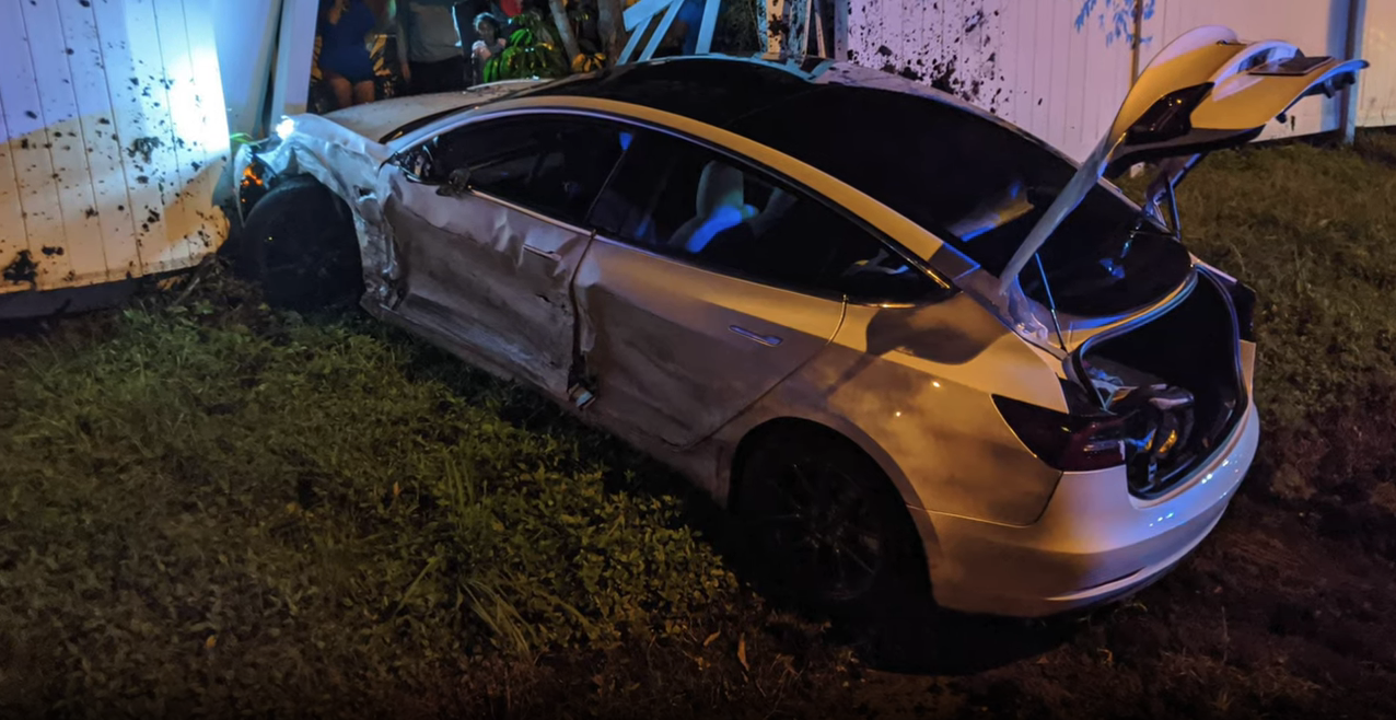 Tesla Model 3 crash