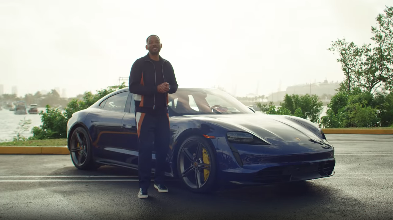 Will Smith Porsche Taycan Turbo S Bad Boys for Life