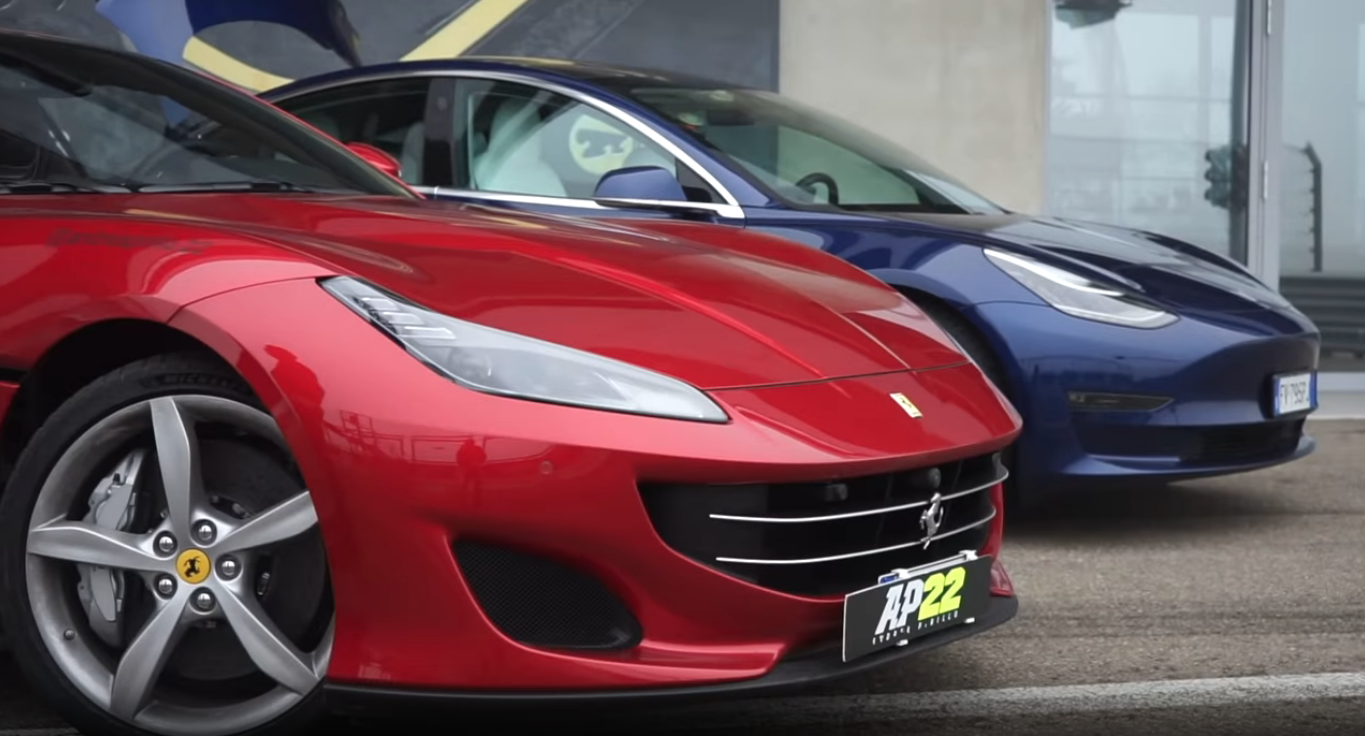 Ferrari Portofino vs Tesla Model 3