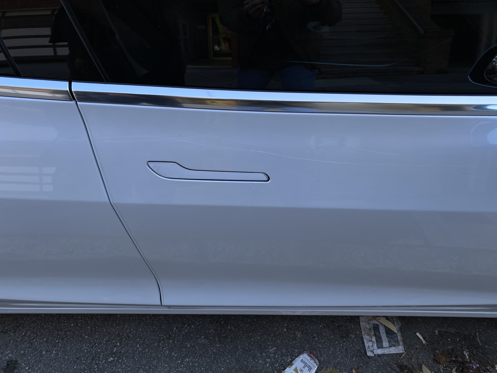 Keying damage Tesla Model 3