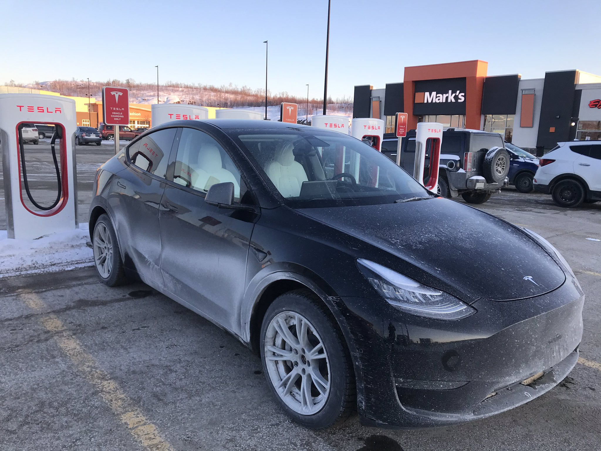 Telsa Model Y Sudbury Superchargers