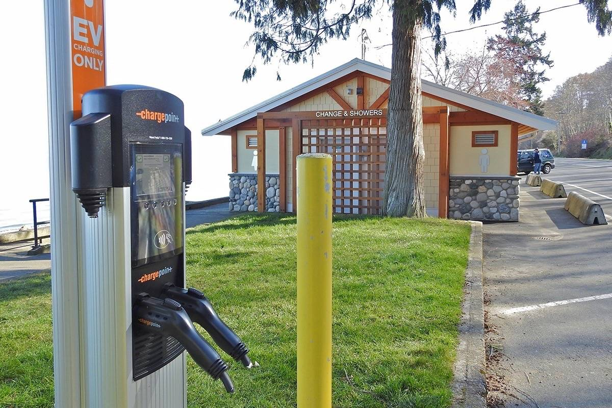 EV chargers vandalized Qualicum Beach