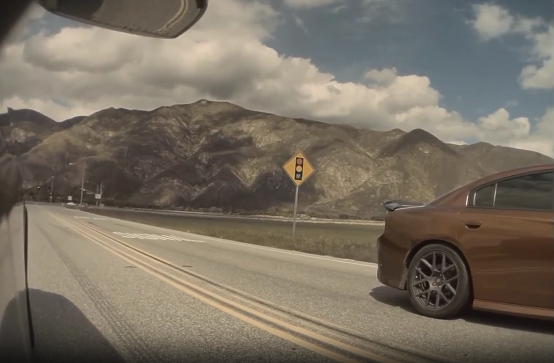 Tesla Model X races Dodge Charger Scat Pack