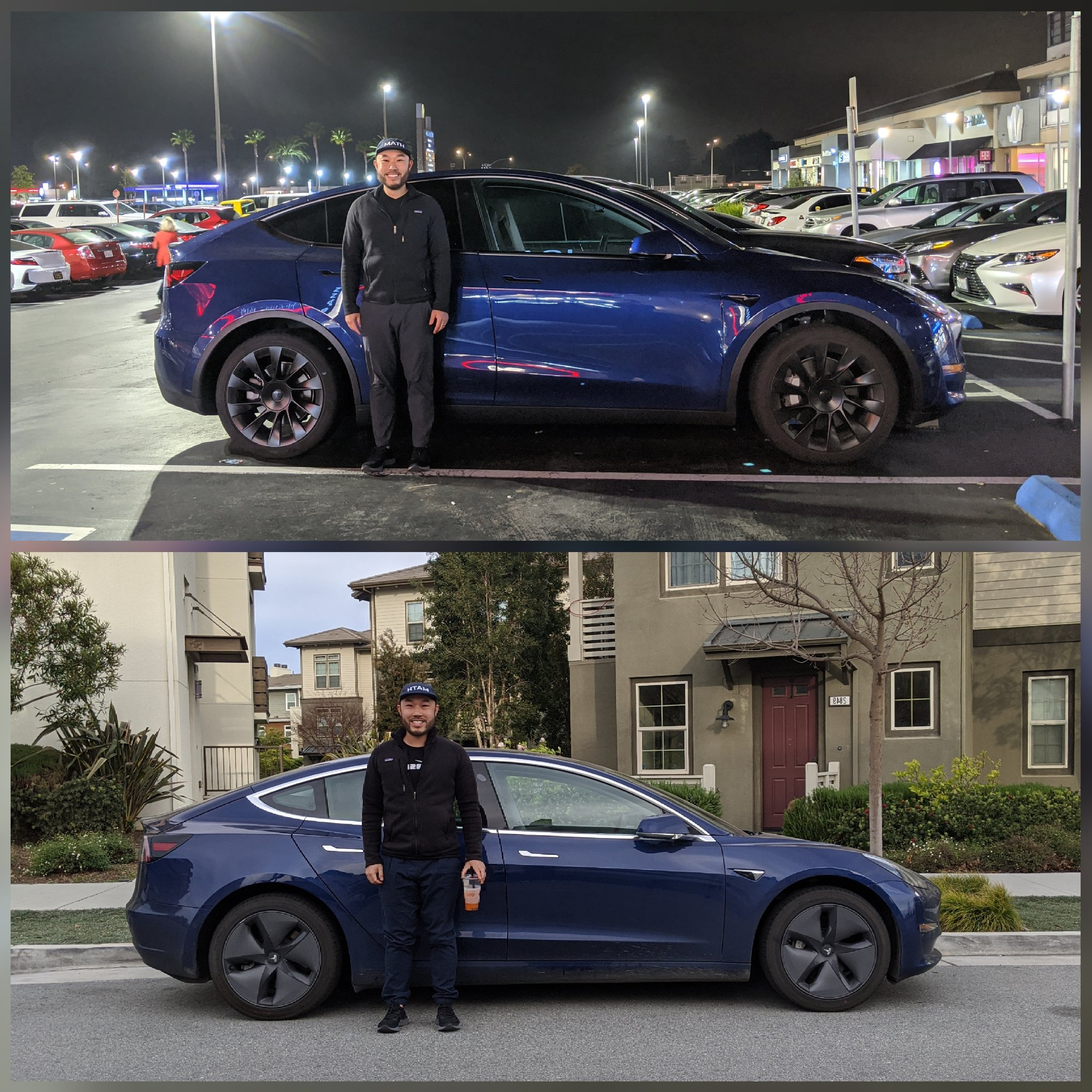 Tesla Model Y Model 3 size comparison
