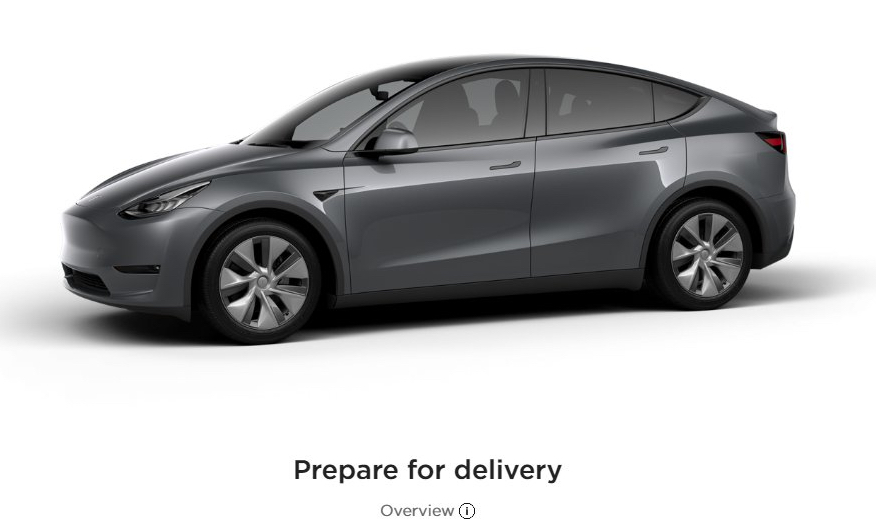 Tesla Model Y Prepare for Delivery