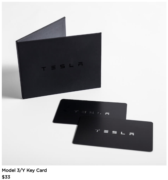 Tesla Model Y online shop