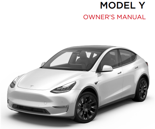 Tesla Model Y owners manual