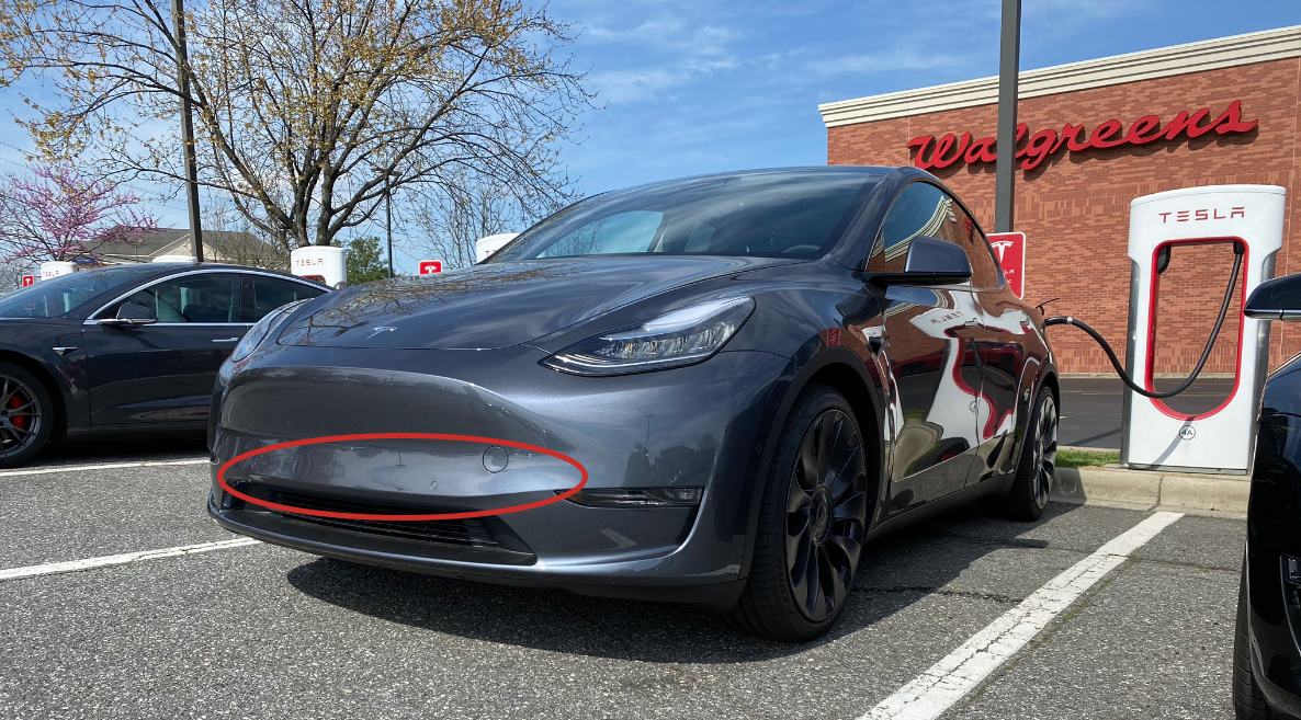 Tesla Model Y radar heater
