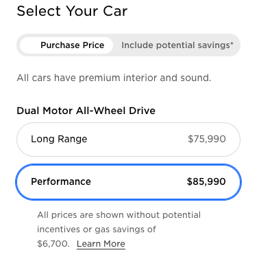 New Tesla Model Y prices Canada