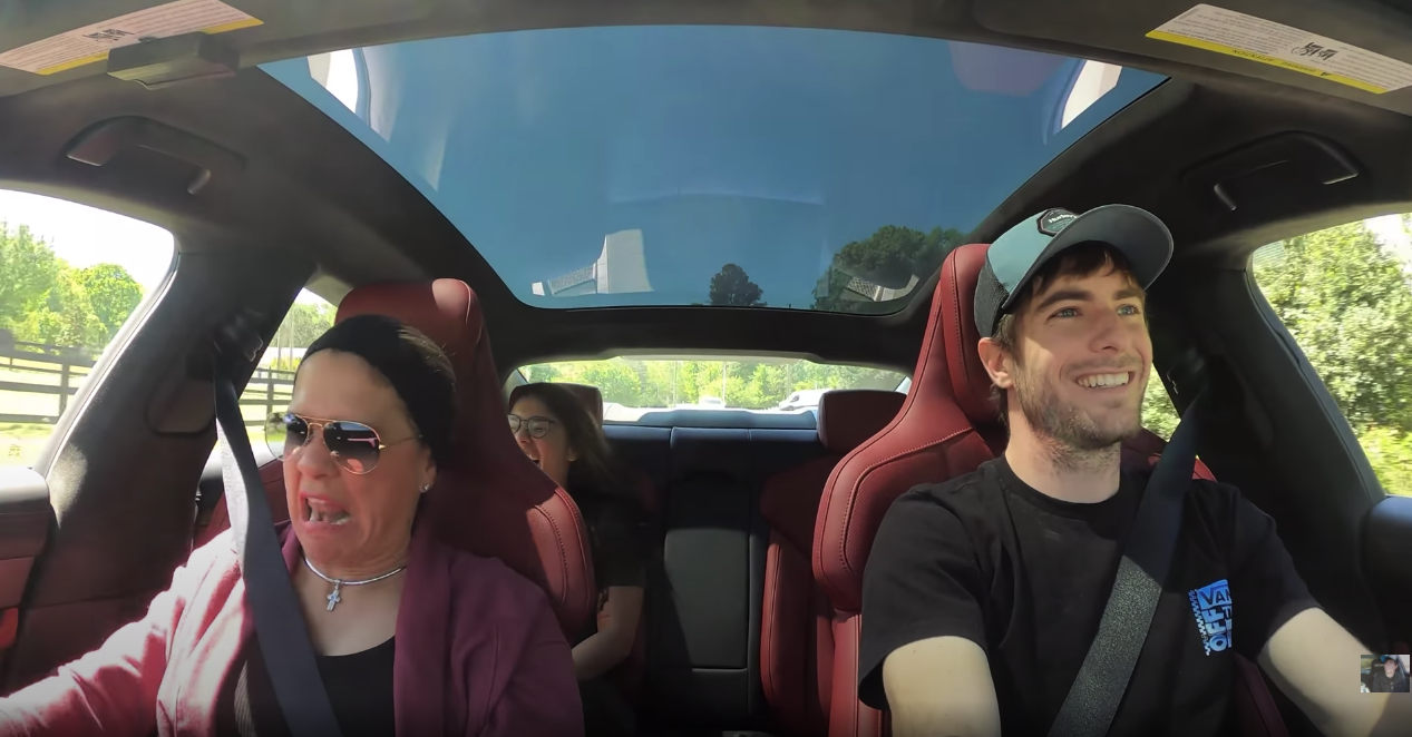 Porsche Taycan acceleration reaction