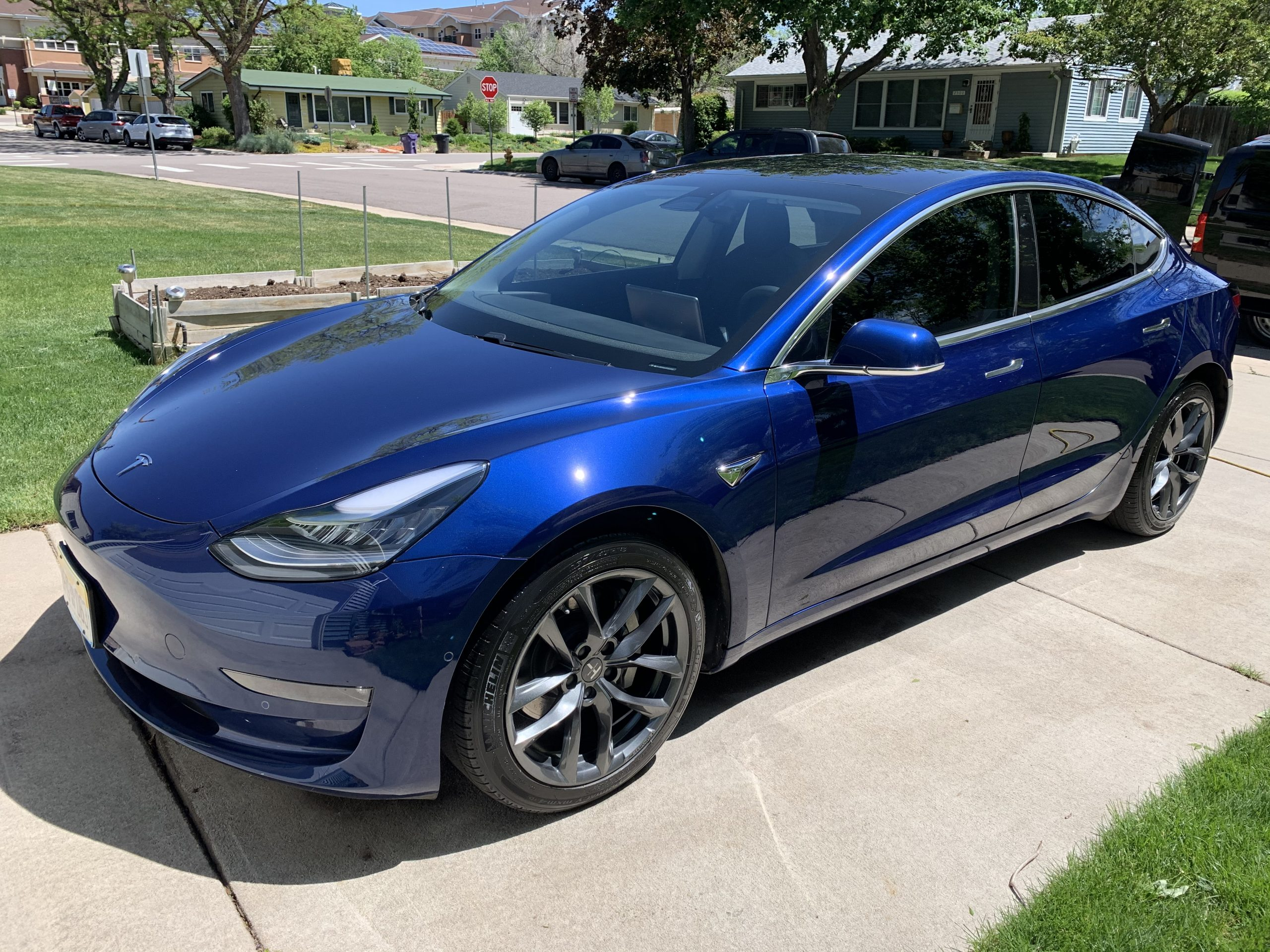 TSportline 18 TSS wheels 2 on Tesla Model 3