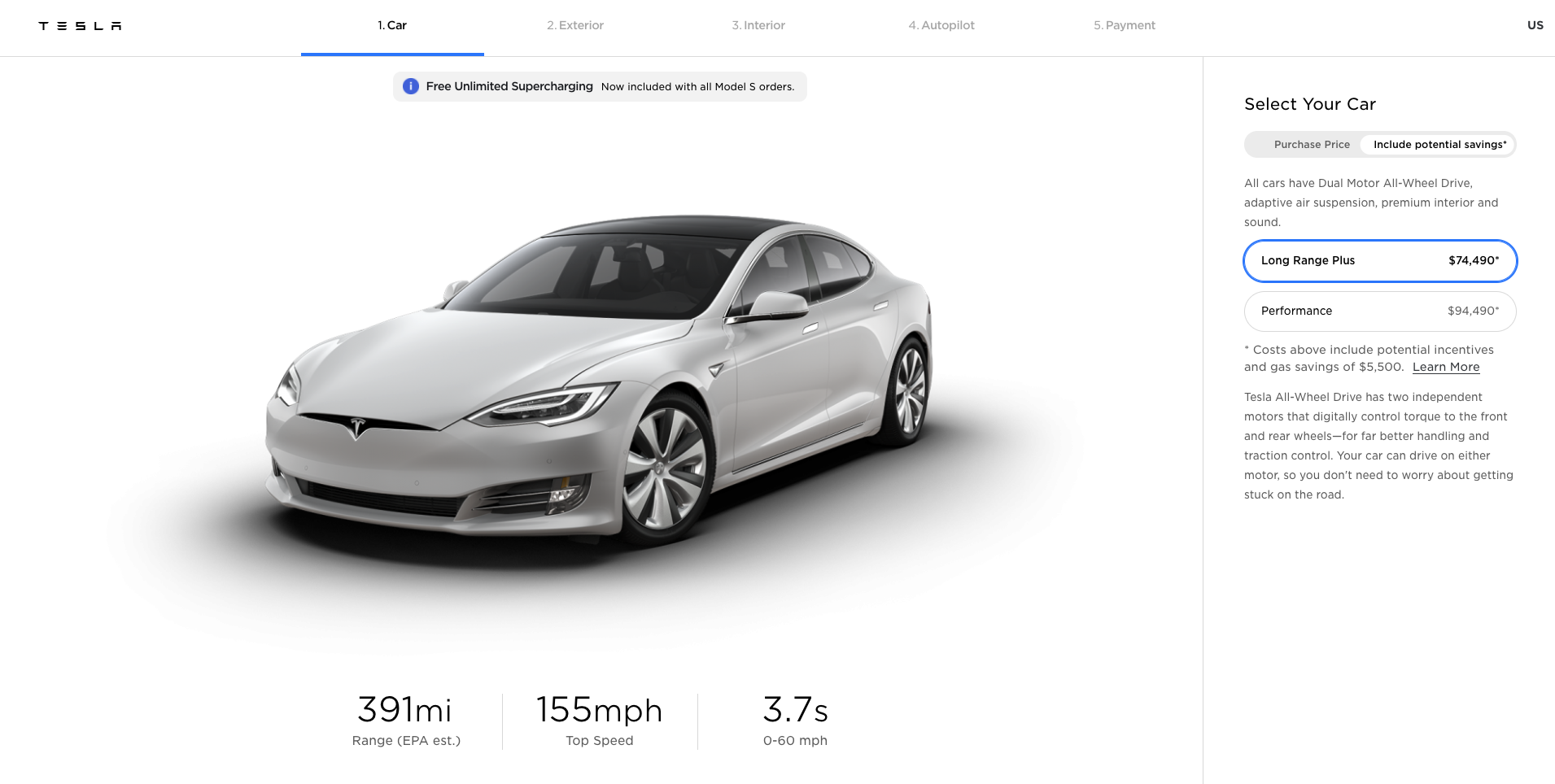 Tesla Model S US Design Studio
