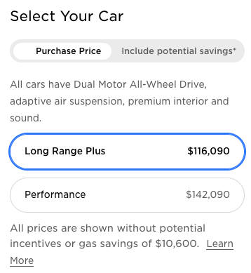 Tesla Model X before price increase Canada