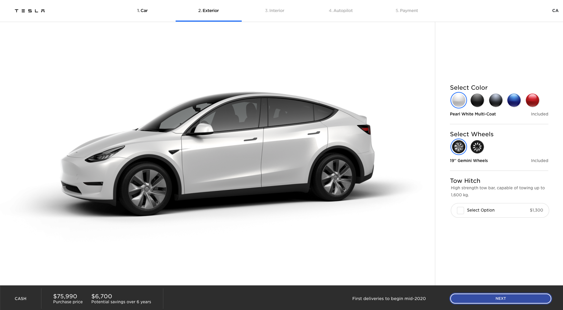 Tesla Model Y tow hitch design studio