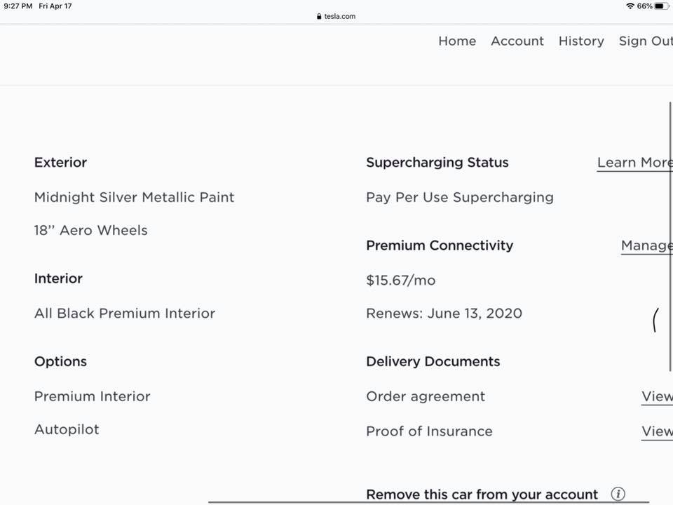 Tesla Premium Connectivity expires June 13
