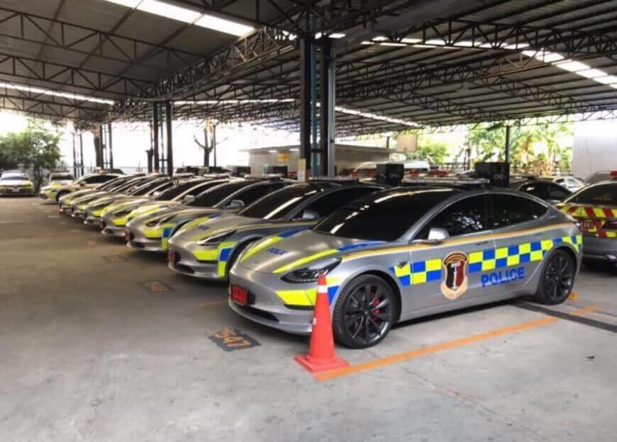 Thai Police Tesla Model 3 fleet